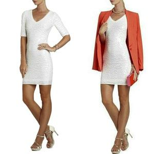 BCBG White Sequin Dress